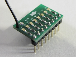 the topside of the LED 8 board